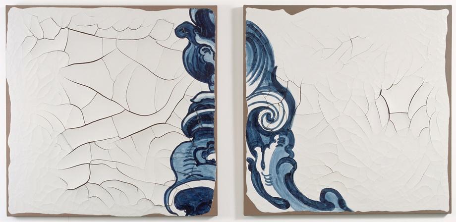 Adriana Varejão: Azulejoes (Hokusai), 2000