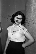 Akram Zaatari: Damaged Negatives: Scratched Portrait of Mrs. Baqari, 2012