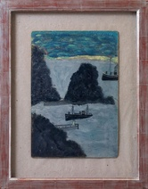 Alfred Wallis: Boats Entering Harbour, 1935