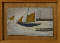 Alfred Wallis: Fishing Boat and Lighthouse, 1935