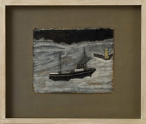 Alfred Wallis: Steamer in Rough Sea, 1935