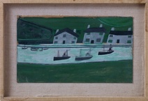 Alfred Wallis: Three Steamers and Three Houses, 1938
