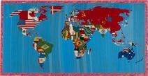 Alighiero Boetti: Mappa del Mundo, 1988