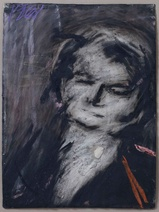 Frank Auerbach: Head of Helen Gillespie, 76.2 x 57.2 cm