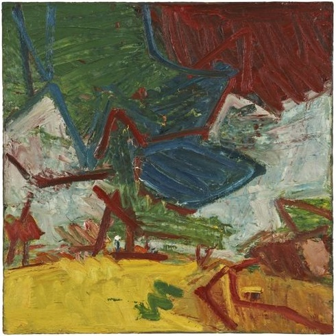 Frank Auerbach: Study of Primrose Hill, 1973-4