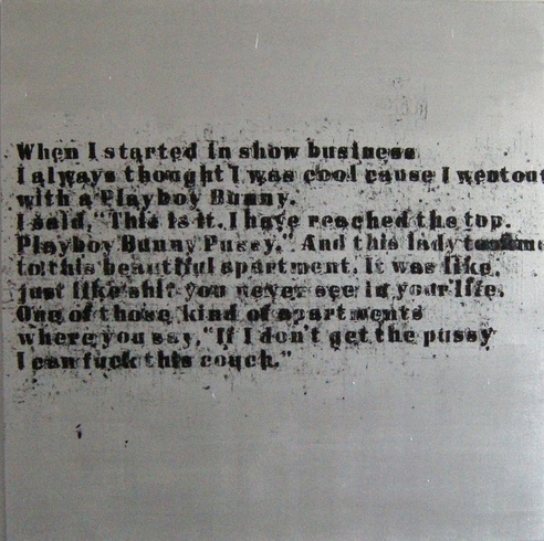 Glenn Ligon: Large Silver in Showbusiness, 2008