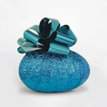 Jeff Koons: Baroque Egg with Bow (Blue/Turquoise), 1994