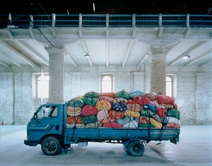 Kimsooja: Cities on the Move – 11633 Miles of Bottari Truck, 1998