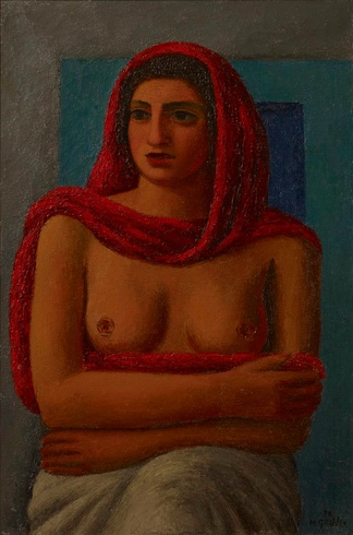 Mark Gertler: The Red Shawl, 1938