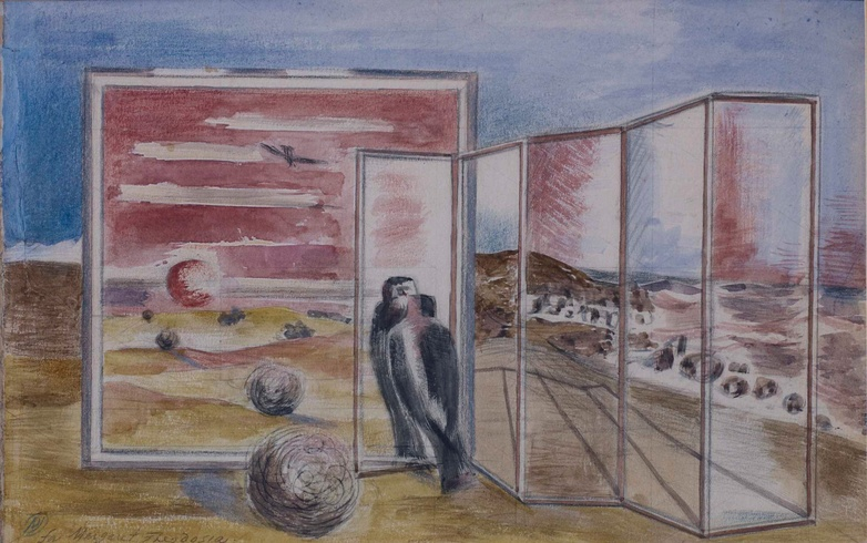 Paul Nash: Study for  'Landscape from a Dream', 1937