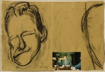 R. B. Kitaj: Lucian Freud making a Face for Max, 1998