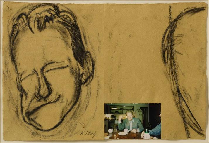 R. B. Kitaj: Lucian Freud making a Face for Max, 1998