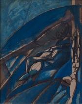 Wyndham Lewis: Study in Blue, 1912